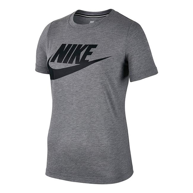 Nike Heather Logo Crew T Shirt grey/black Image 0
