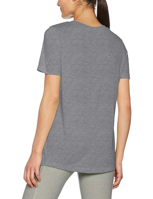 Nike Heather Logo Crew T Shirt grey/black Image 1