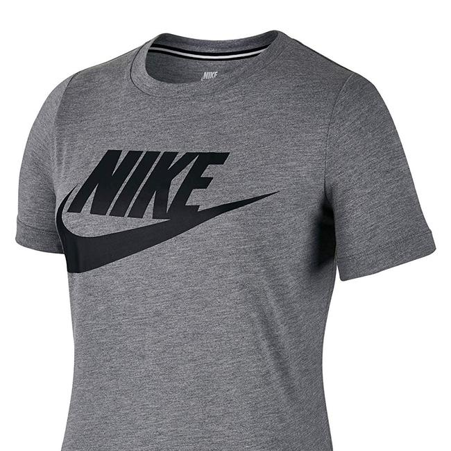 Nike Heather Logo Crew T Shirt grey/black Image 2