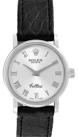 Preload https://img-static.tradesy.com/item/25404336/rolex-silver-box-cellini-classic-18k-white-gold-ladies-6110-card-watch-0-1-540-540.jpg
