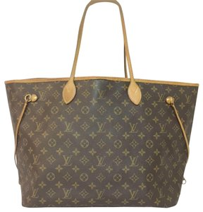 Louis Vuitton Lv Neverfull Gm Neverfull Monogram Neverfull Gm Canvas Lv Neverfull Canvas Tote in Brown