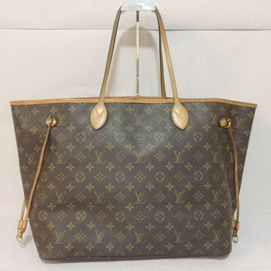 Louis Vuitton Lv Neverfull Gm Neverfull Monogram Neverfull Gm Canvas Lv Neverfull Canvas Tote in Brown Image 1