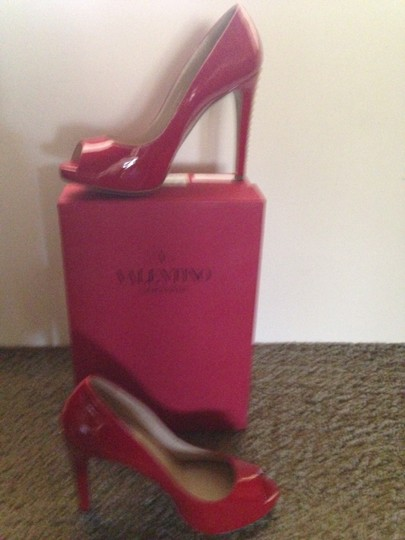 Valentino Red Patent Leather/Studded Pumps Image 1