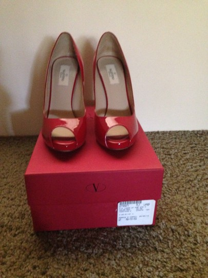 Valentino Red Patent Leather/Studded Pumps Image 2