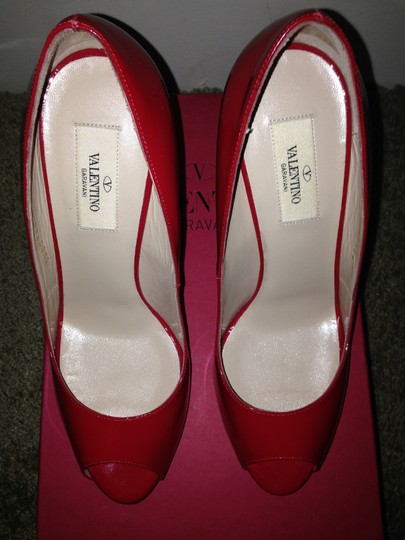 Valentino Red Patent Leather/Studded Pumps Image 5