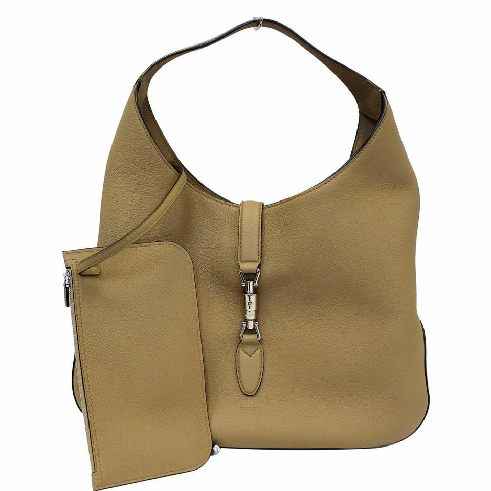 2a3d8ca6d2934c Gucci Jackie Soft Leather 362968 Beige Hobo Bag - Tradesy