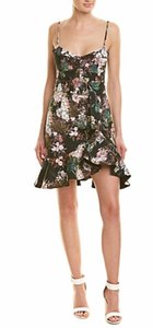 NICHOLAS short dress black floral on Tradesy
