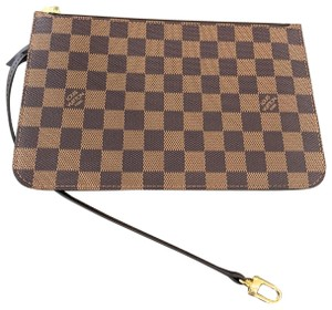 Louis Vuitton Clutch Wallets Pouch Lv Damier Handbags Wristlet in Brown