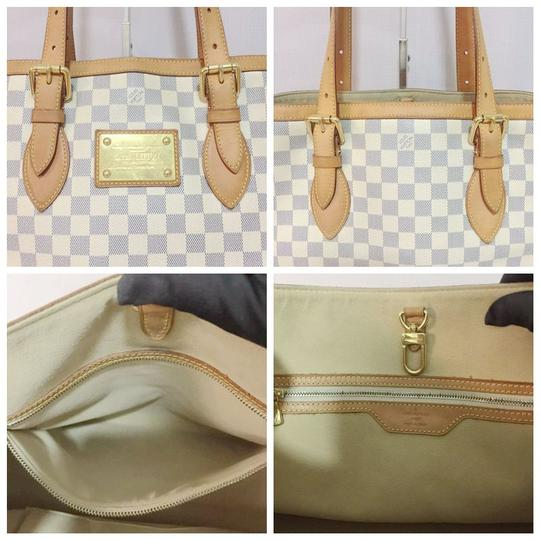 Louis Vuitton Lv Hampstead Hampstead Mm Damier Azur Canvas Hampstead Tote in White Image 10