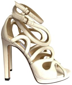 Jimmy Choo Chalk White Sandals