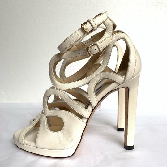Jimmy Choo Chalk White Sandals Image 1