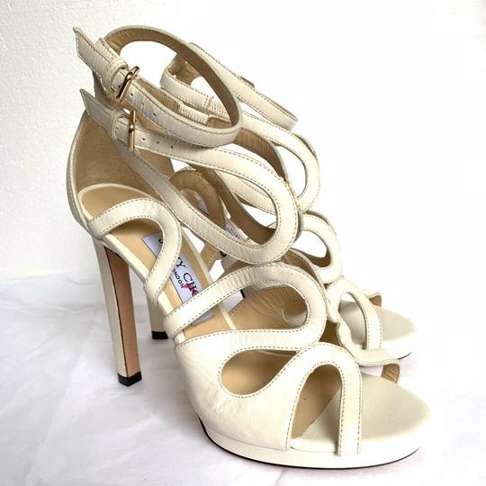 Jimmy Choo Chalk White Sandals Image 2