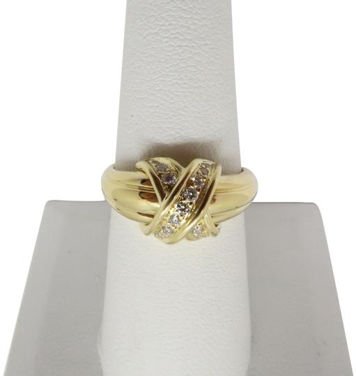 Preload https://img-static.tradesy.com/item/25404534/tiffany-and-co-18k-yellow-gold-and-diamond-classic-x-band-ring-0-1-540-540.jpg