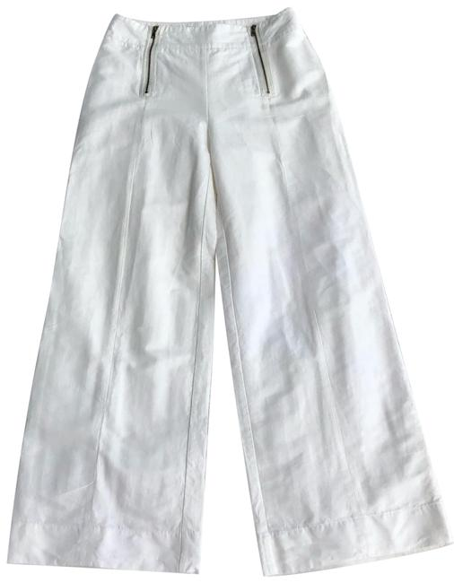 Item - White Doble Zipper Pants Size 4 (S, 27)