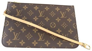 Louis Vuitton Clutch Wallets Pouch Lv Monogram Handbags Wristlet in Brown