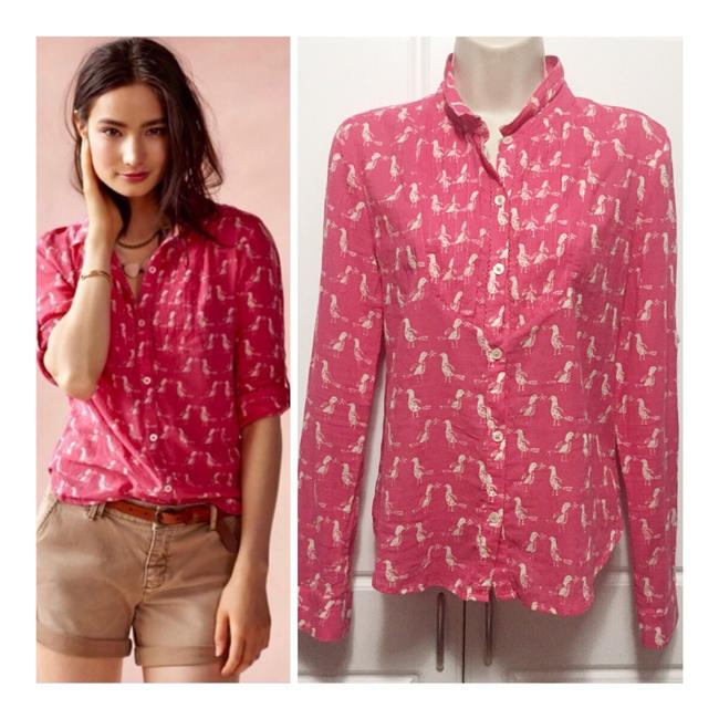 Preload https://img-static.tradesy.com/item/25404581/anthropologie-pink-holding-horses-bird-print-button-down-top-size-4-s-0-0-650-650.jpg