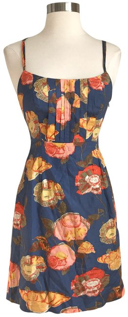 Preload https://img-static.tradesy.com/item/25404588/anthropologie-blue-floral-mid-length-short-casual-dress-size-0-xs-0-1-650-650.jpg