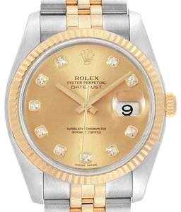 Rolex Rolex Datejust 36mm Steel Yellow Gold Diamond Mens Watch 116233 - item med img