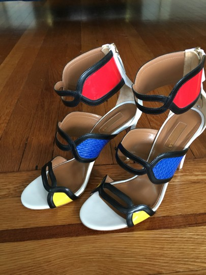 Aquazzura Made In Italy Chic Fashionable Stricking Exquisite Multi-color Sandals Image 2