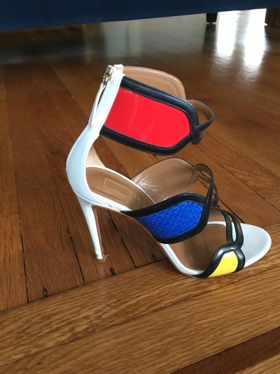 Aquazzura Made In Italy Chic Fashionable Stricking Exquisite Multi-color Sandals Image 4