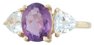 Other 3.80ctw Amethyst & Topaz Ring - 14k Size 7.75 Cocktail 3-Stone