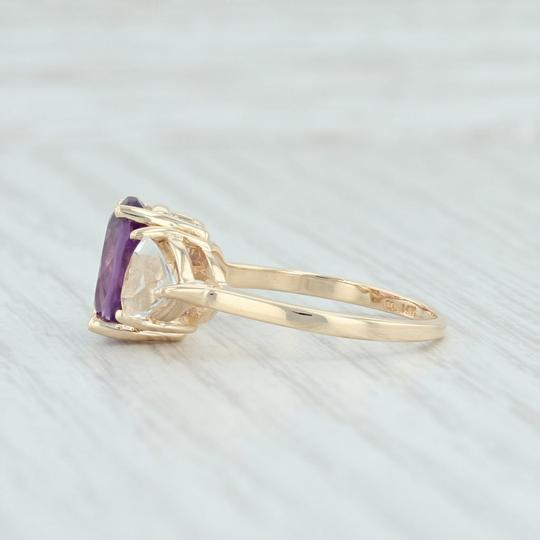 Other 3.80ctw Amethyst & Topaz Ring - 14k Size 7.75 Cocktail 3-Stone Image 2