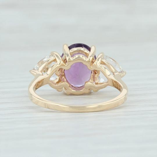 Other 3.80ctw Amethyst & Topaz Ring - 14k Size 7.75 Cocktail 3-Stone Image 3