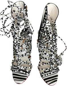 Sophia Webster Fashioonable Elegant Exquisite WHITE W/BLACK Sandals