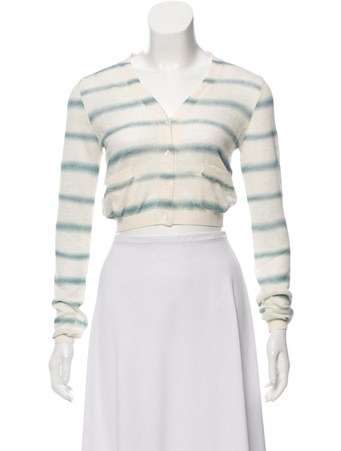 Preload https://img-static.tradesy.com/item/25404892/prada-beige-green-cielo-striped-125463-cotone-lino-rig-euro-cardigan-size-os-one-size-0-2-650-650.jpg