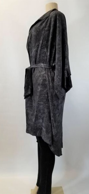Laura Delman Kimono Designer Black and Gray Jacket Image 3