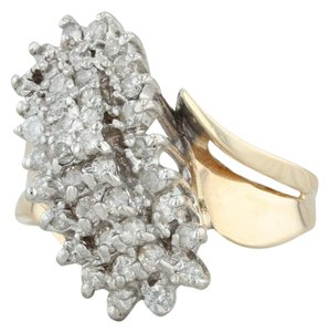 Other .90ctw Diamond Cluster Ring - 14k Size 8.5 Bypass Cocktail