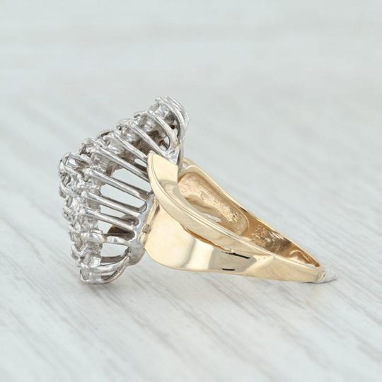 Other .90ctw Diamond Cluster Ring - 14k Size 8.5 Bypass Cocktail Image 2