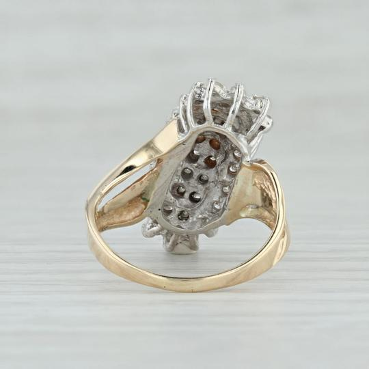 Other .90ctw Diamond Cluster Ring - 14k Size 8.5 Bypass Cocktail Image 3