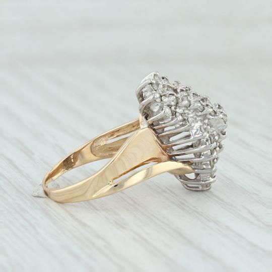 Other .90ctw Diamond Cluster Ring - 14k Size 8.5 Bypass Cocktail Image 4