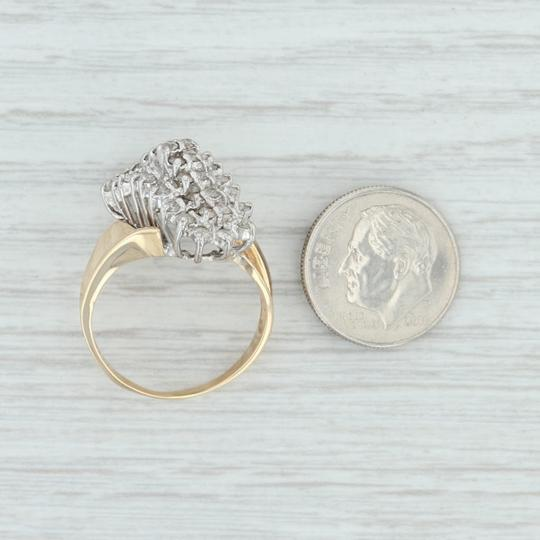 Other .90ctw Diamond Cluster Ring - 14k Size 8.5 Bypass Cocktail Image 6