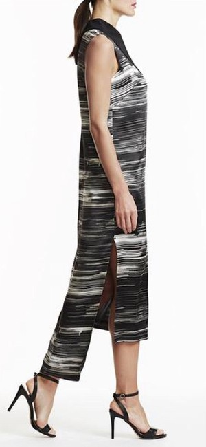 Laura Delman Striped Collar Midi Dress Image 1