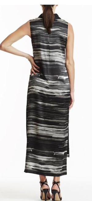 Laura Delman Striped Collar Midi Dress Image 2