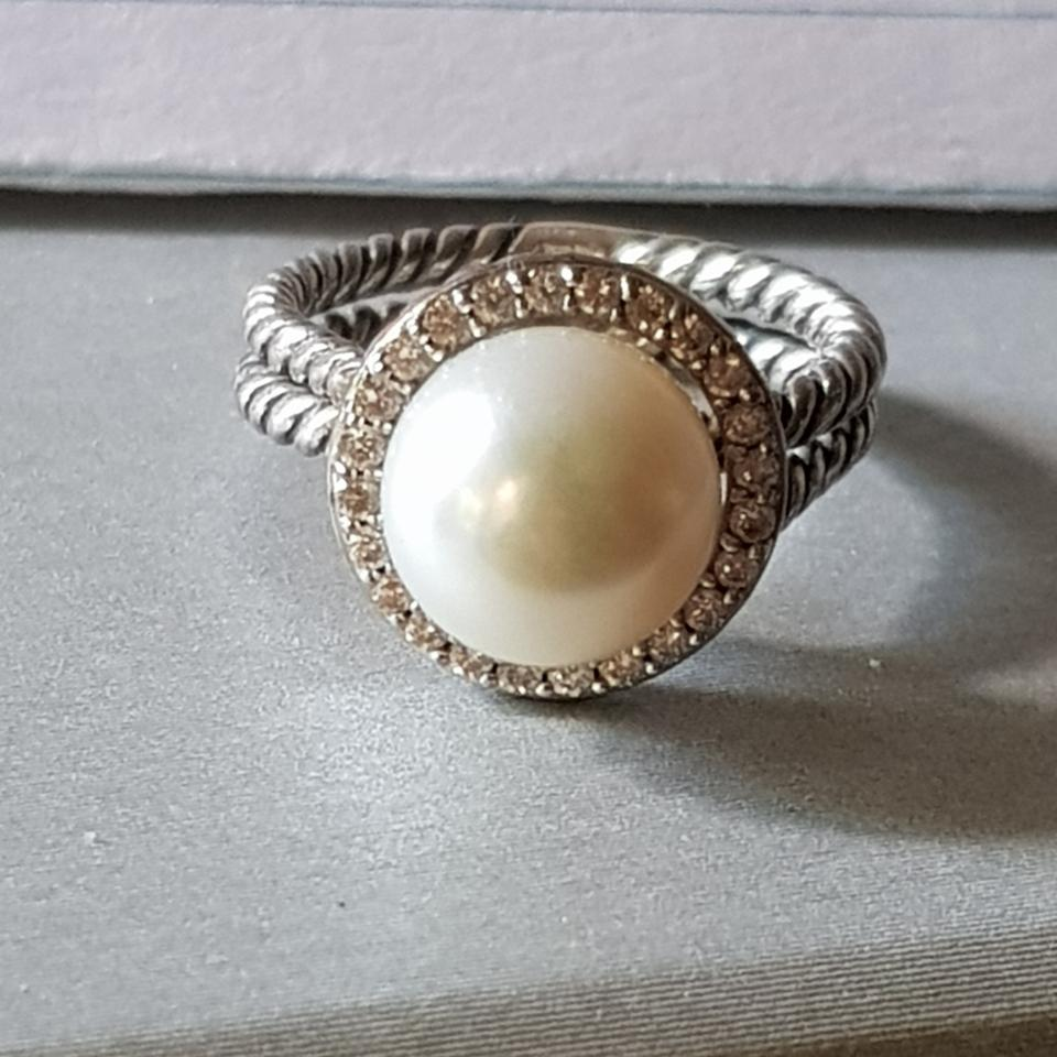 dd93784ff0072 Pearl Diamond Cable Ring