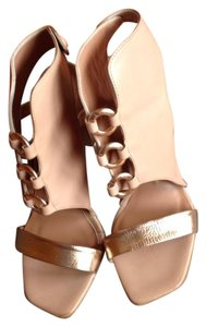 IXOS nude and gold Sandals