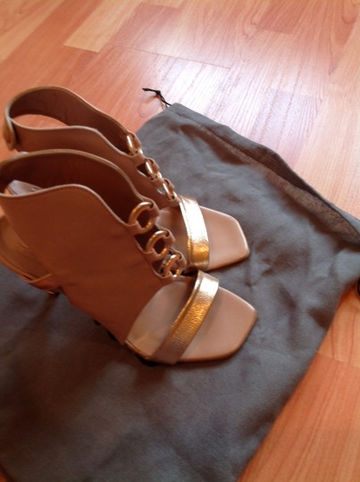 IXOS nude and gold Sandals Image 2