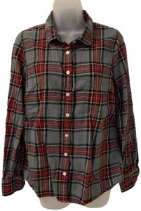 J.Crew Plaid Long Sleeve Button Front Perfect Button Down Shirt