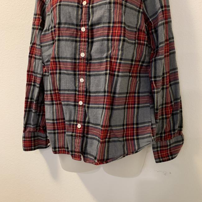 J.Crew Plaid Long Sleeve Button Front Perfect Button Down Shirt Image 1