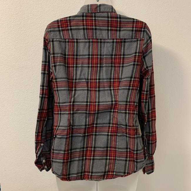 J.Crew Plaid Long Sleeve Button Front Perfect Button Down Shirt Image 2