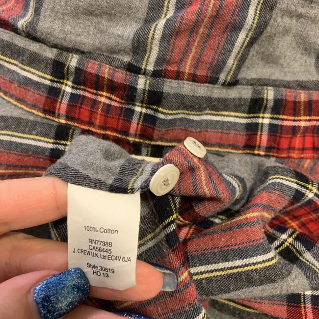 J.Crew Plaid Long Sleeve Button Front Perfect Button Down Shirt Image 3
