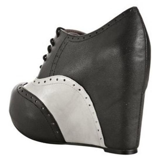 Jeffrey Campbell Black / Pale Grey Platforms