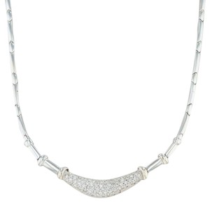 Other Stationary .88ctw Diamond Pendant Necklace - 14k White Gold 16