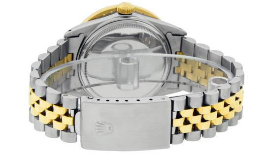 Rolex Mens Datejust Ss/Yellow Gold with Black Diamond Dial Watch Image 1