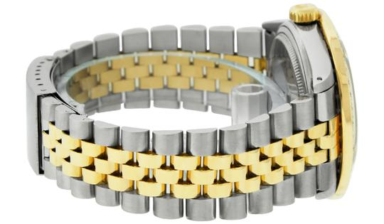 Rolex Mens Datejust Ss/Yellow Gold with Black Diamond Dial Watch Image 3