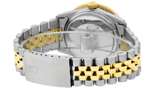 Rolex Mens Datejust Ss/Yellow Gold with Black Diamond Dial Watch Image 4
