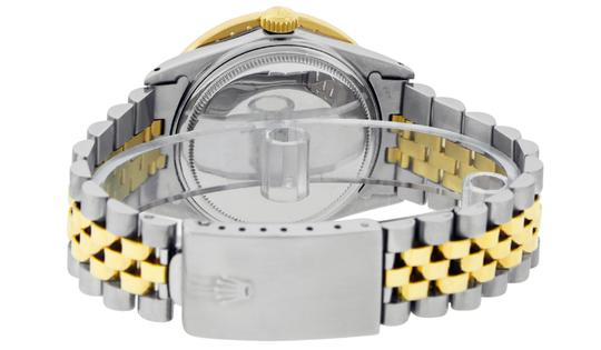 Rolex Mens Datejust Ss/Yellow Gold with Black Diamond Dial Watch Image 5
